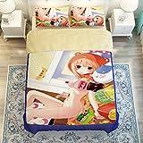 MeMoreCool Japanese Anime Himouto! Umaru-chan Bedding Set Personality Customization Kids/Students Duvet Cover Set Anime Bedding Set(3-Piece,Twin)