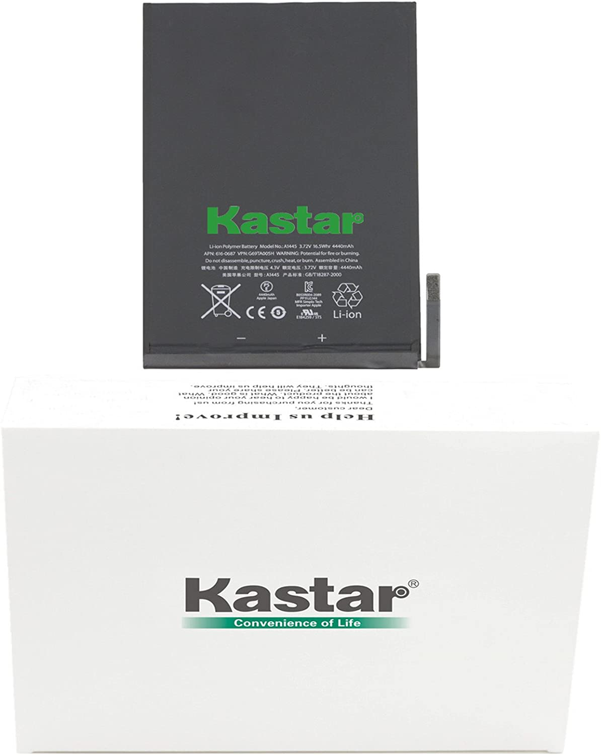 Kastar Internal Battery Replacement for iPad Mini1 (1st Generation iPad Mini) Fixes for 616-0627, 616-0633, 616-0688 and A1432, A1445, A1454, iPad Mini, iPad Mini Retina, iPad Mini WiFi