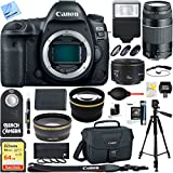 Cheap Canon EOS 5D Mark IV 30.4 MP Full Frame CMOS DSLR Camera Body with EF 75-300mm F4-5.6 III Lens + EF 50mm F1.8 STM Prime Lens and 0.43x Wide Angle & 2.2x Telephoto Ultimate Bundle