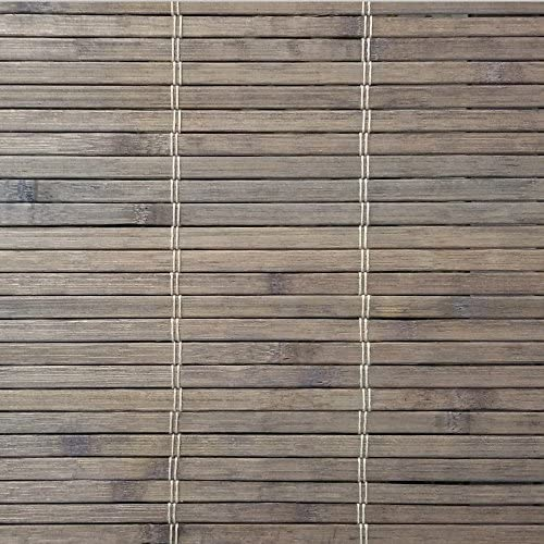 Radiance Cordless Driftwood Dockside Flatstick Bamboo Roman Shade, 48 in. W x 64 in. L