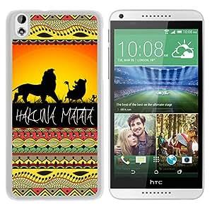 Customized Hakuna Matata on Sunset Lion King White HTC Desire 816 Protective Phone Case