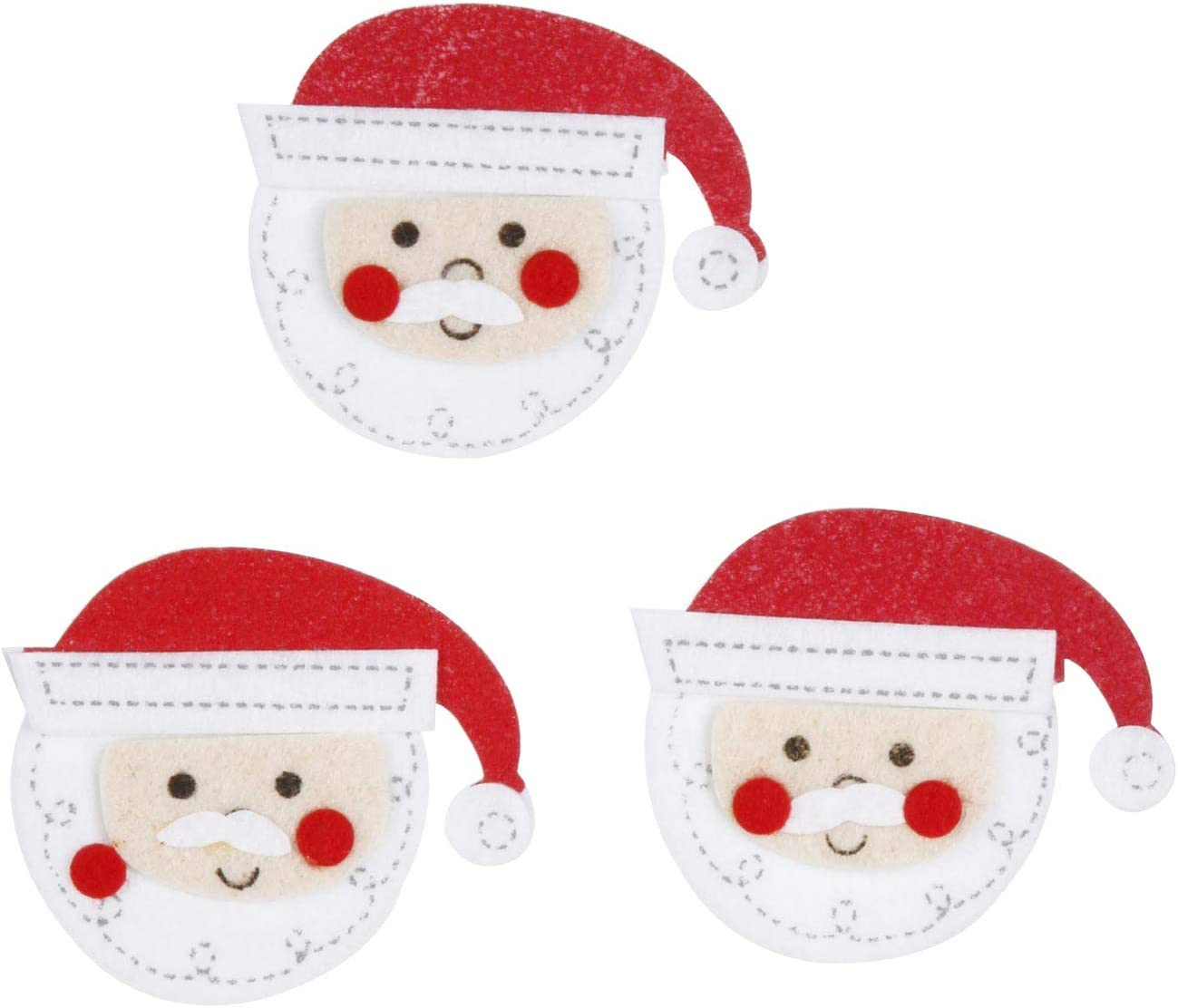 Gingerbread Boy//Man and Girl Bundle of 32 Stickers for Kids Holiday Felt Stickers for Kids Santa Face 10 Santa Claus 22 Gingerbread
