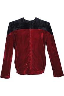 Star Trek Picard Black Red Velvet Jacket Red Uniform Cosplay Costume Jacket