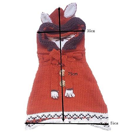 Netter Fox Hut Schal Tücher Maske Earflap Set Wolle Gestrickte