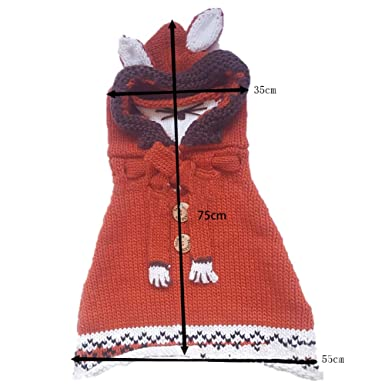 Ouken Netter Fox Hut Schal Schal Maske Earflap Set Wolle Gestrickte