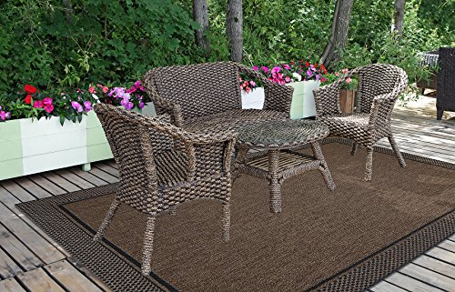 Brown Jordan Prime Label Patio Furniture Rug 9x12 Furman Collection Sisal  Woven Modern Outdoor Rugs,