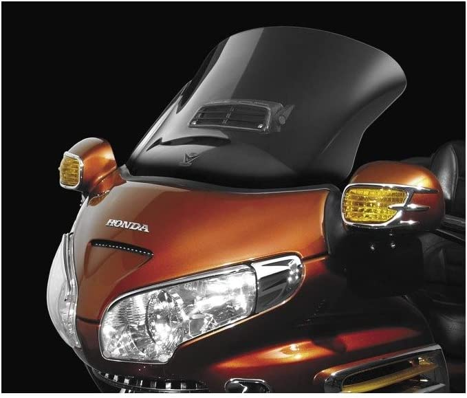 New Style Smoked Windshield Windscreen Air Vent For Honda Goldwing GL1800 01-17