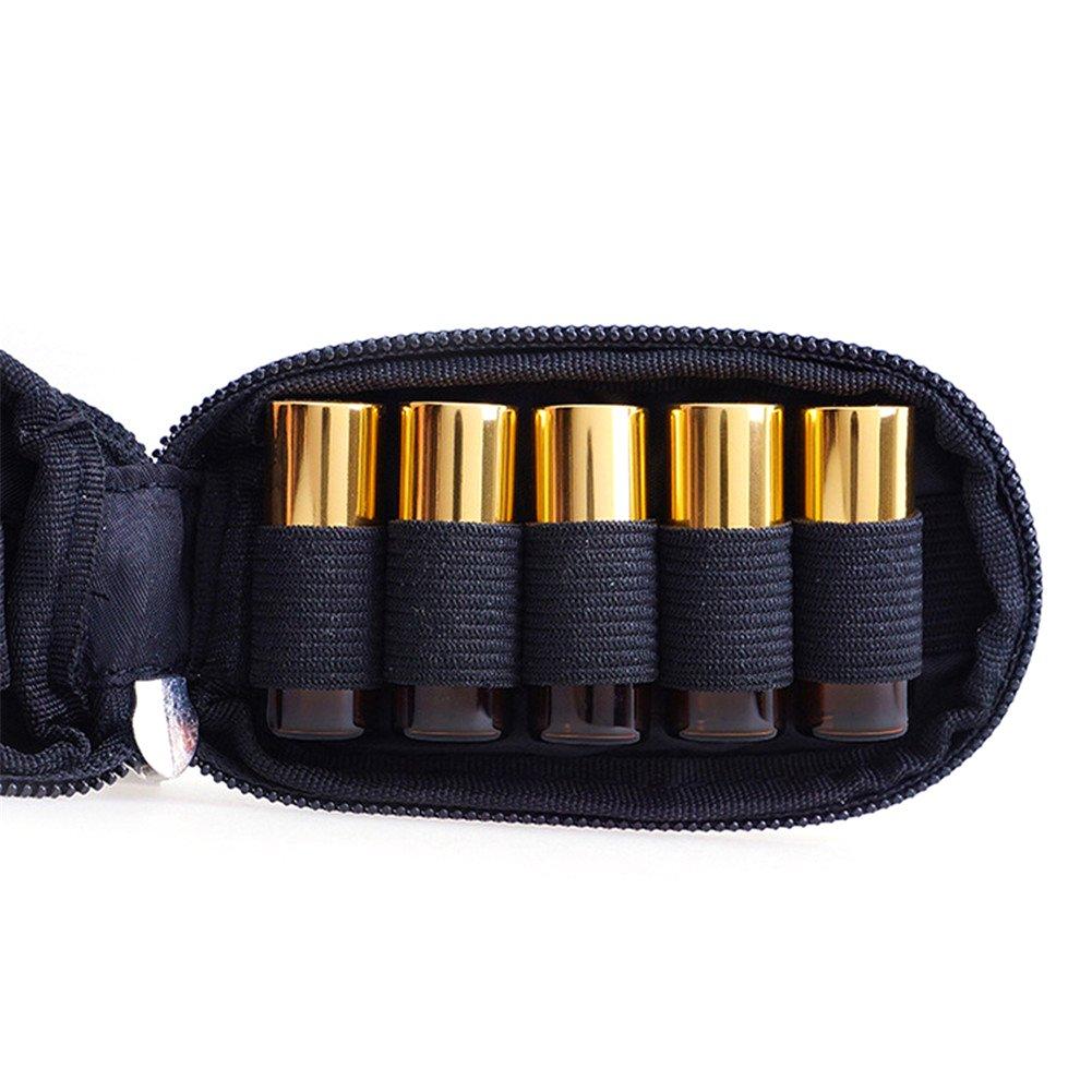 10-bottle Portable Housse de transport aux Huiles Essentielles avec porte-cl/és LeakProof r/ésistant aux chocs Vernis /à ongles Organiseur Peut contenir 1/ml//Flacon de 2ml
