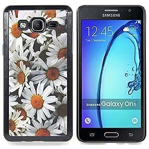 Stuss Case / Funda Carcasa protectora - Manzanilla Flores Pétalo campo Naturaleza - Samsung Galaxy On5 O5