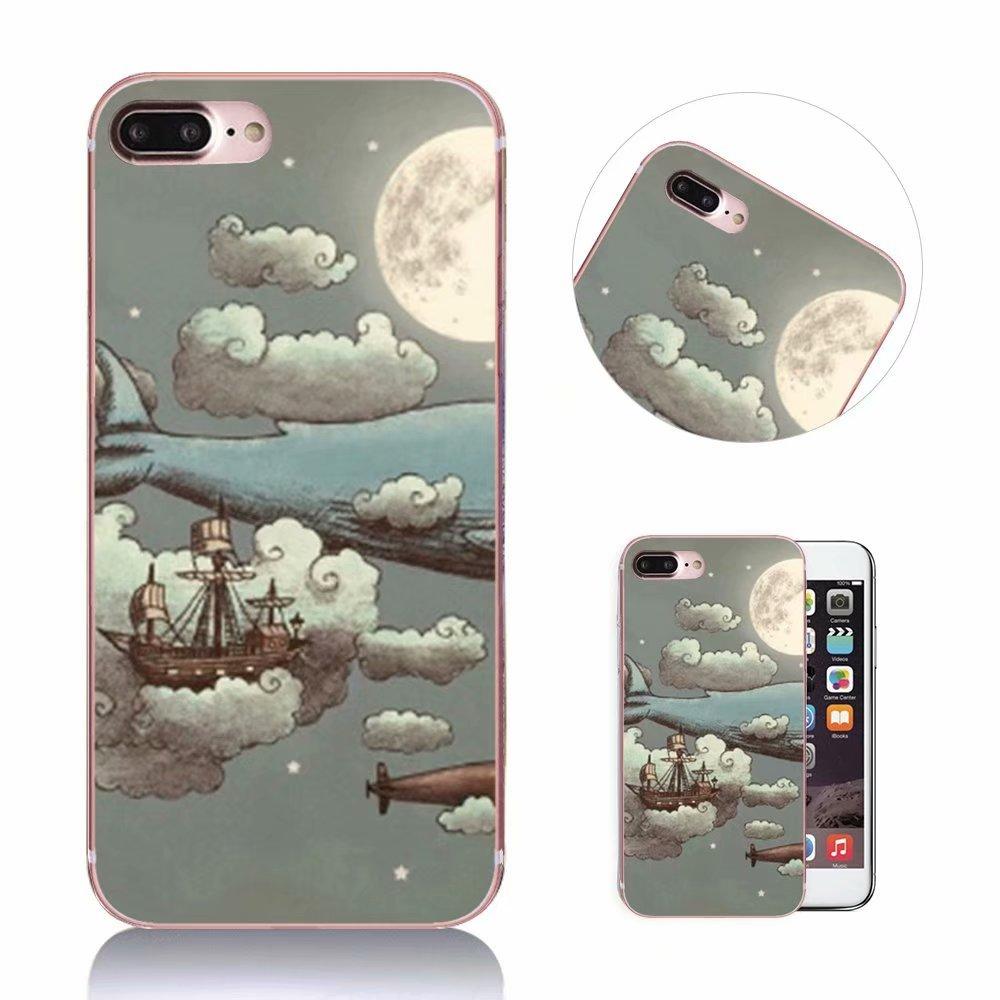 iPhone 8 Plus Hülle, QianYang Malerei Muster TPU Silikon Case Cover für iPhone 7 Plus/iPhone 8 Plus Schutzhülle Dünnen Landschaft Landscape Soft Kratzfeste Tasche Schale - Playmate iPhone 8 Plus Hülle iPhone 7 Plus/ 8 Plus