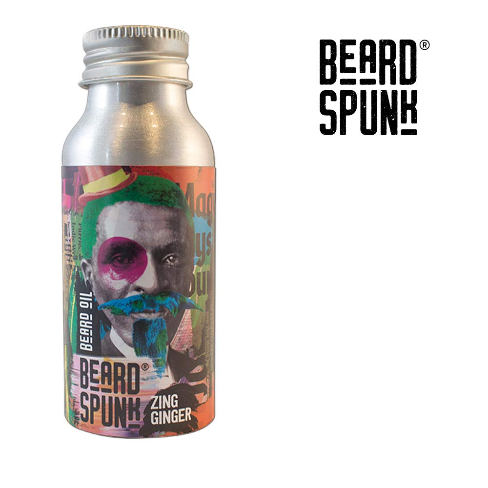 Beard Spunk ® SPECIAL EDITION ZING GINGER Premium Beard & Moustache Oil - Large Bottle 50ml