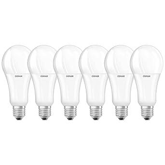 Osram Star Bombilla LED E27, 20 W, Blanco 6 Unidades