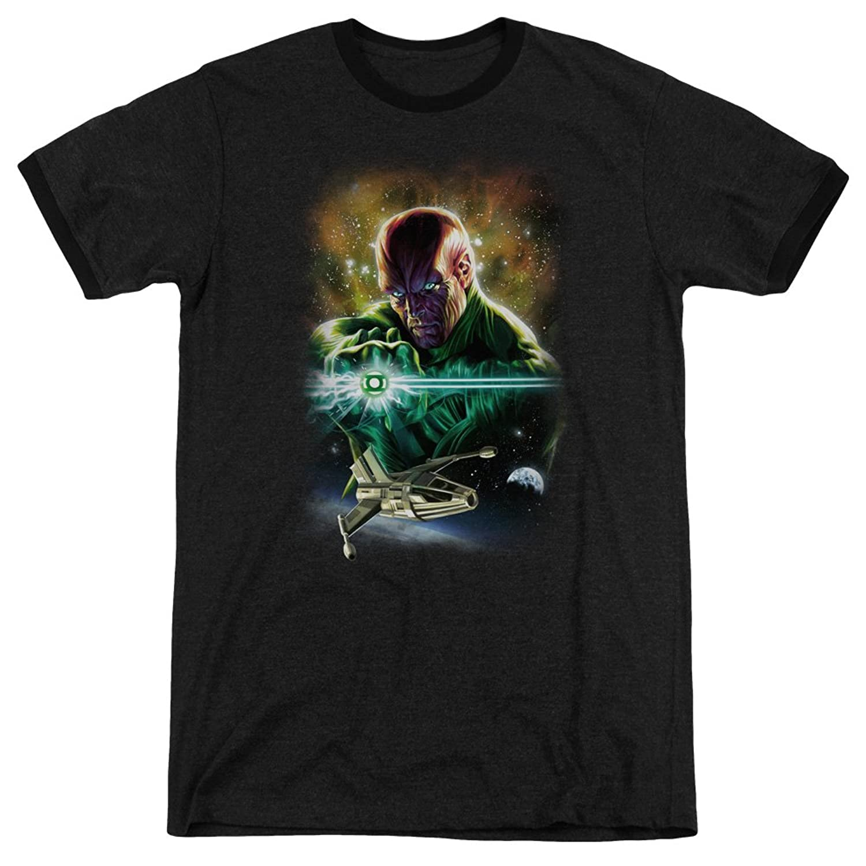 Justice League Men's Abin Sur Ringer T-Shirt