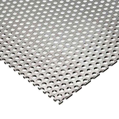 Online Metal Supply Galvanized Steel Perforated Sheet, Thickness: 0.034 (22 gauge), Width: 12