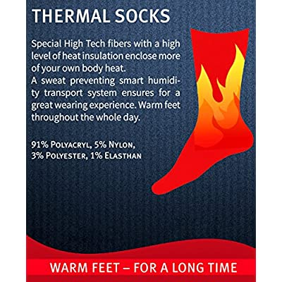 2-Pack BRUBAKER Heat my Feet Thermal Socks - Warm Feet - Heat Enclosing Insulation Fibers at Amazon Women's Clothing store