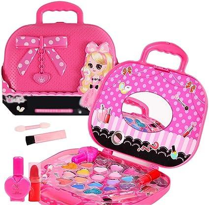 Anself Kit de Maquillaje para Niñas, Maquillaje de Princesa Cosmética Multicolores Niña,Estuche de Maquillaje para Actividades como Fiestas de Princesas y Cumpleaños: Amazon.es: Belleza