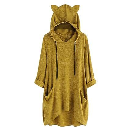 Women Hooded Pullovers Sweatshirt Irregular Hem Long Sleeve Hoodies Sport Tops