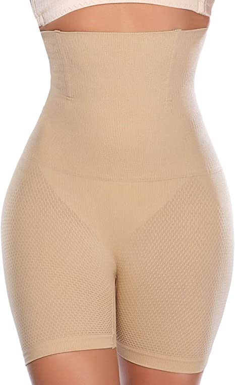 Ladies High Waist Boned Firm Control Panties Tummy Tucking Shapewear Underwear