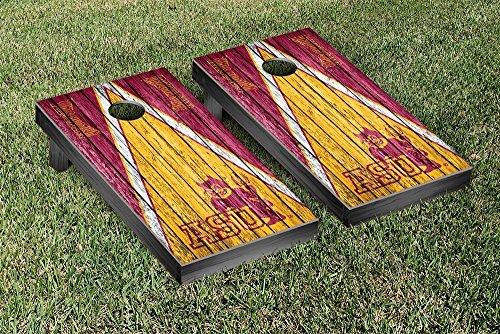 College Vault Arizona State ASU Sun Devils Regulation Cornhole Game Set Triangle Weathered Version by Victory Tailgate