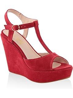 MINEVAGANTI Chaussures à Semelle Compensée Femme 39 EU 5s8Bg0NG
