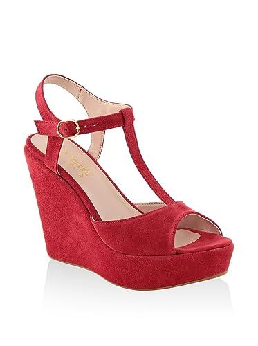 MINEVAGANTI Chaussures à Semelle Compensée Femme 39 EU EyV18p