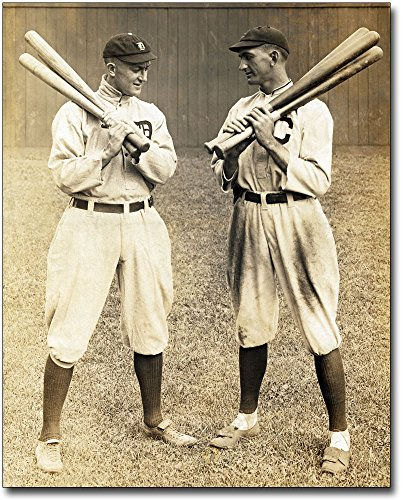 Ty Cobb & Shoeless Joe Jackson Baseball 30x40 Silver Halide Photo Print
