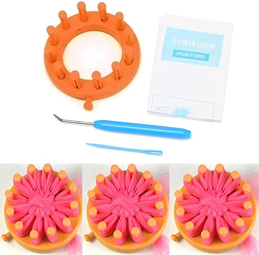 LoveinDIY Knitter Knitting Flower Loom Kit Make Embellishments Bloom Patter Tool