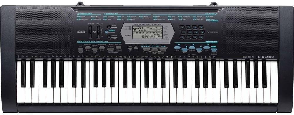 Casio CTK-2100 - Teclado MIDI (USB, 3800 g, 949 x 354 x 112 mm, 9V, DC)