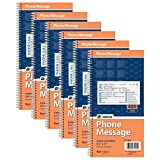 Adams Phone Message Book, Carbonless Duplicate, 5.50 x 11 Inches, 4 Sets per Page, 400 Sets per Book, Pack Of 6