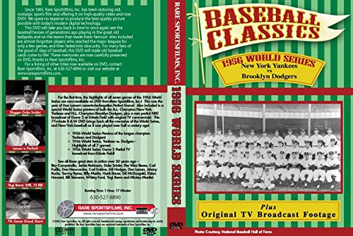 1956 WORLD SERIES (New York Yankees vs. Brooklyn Dodgers) plus preview and final 2 innings of Game 2 on DVD!