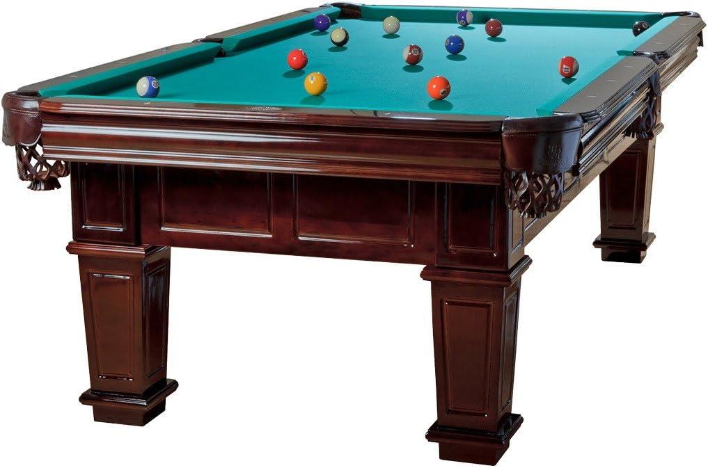 Mesa de billar Modelo Portos Tuchfarbe grün Talla:9 ft.: Amazon.es: Deportes y aire libre