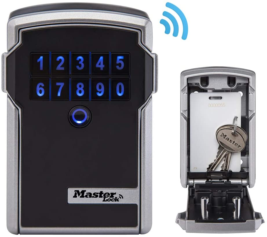 Master Lock 5441EURENT Bo/îte /à Cl/é Bluetooth pour Applications Professionnelles Fixation Murale Bluetooth ou Combinaison