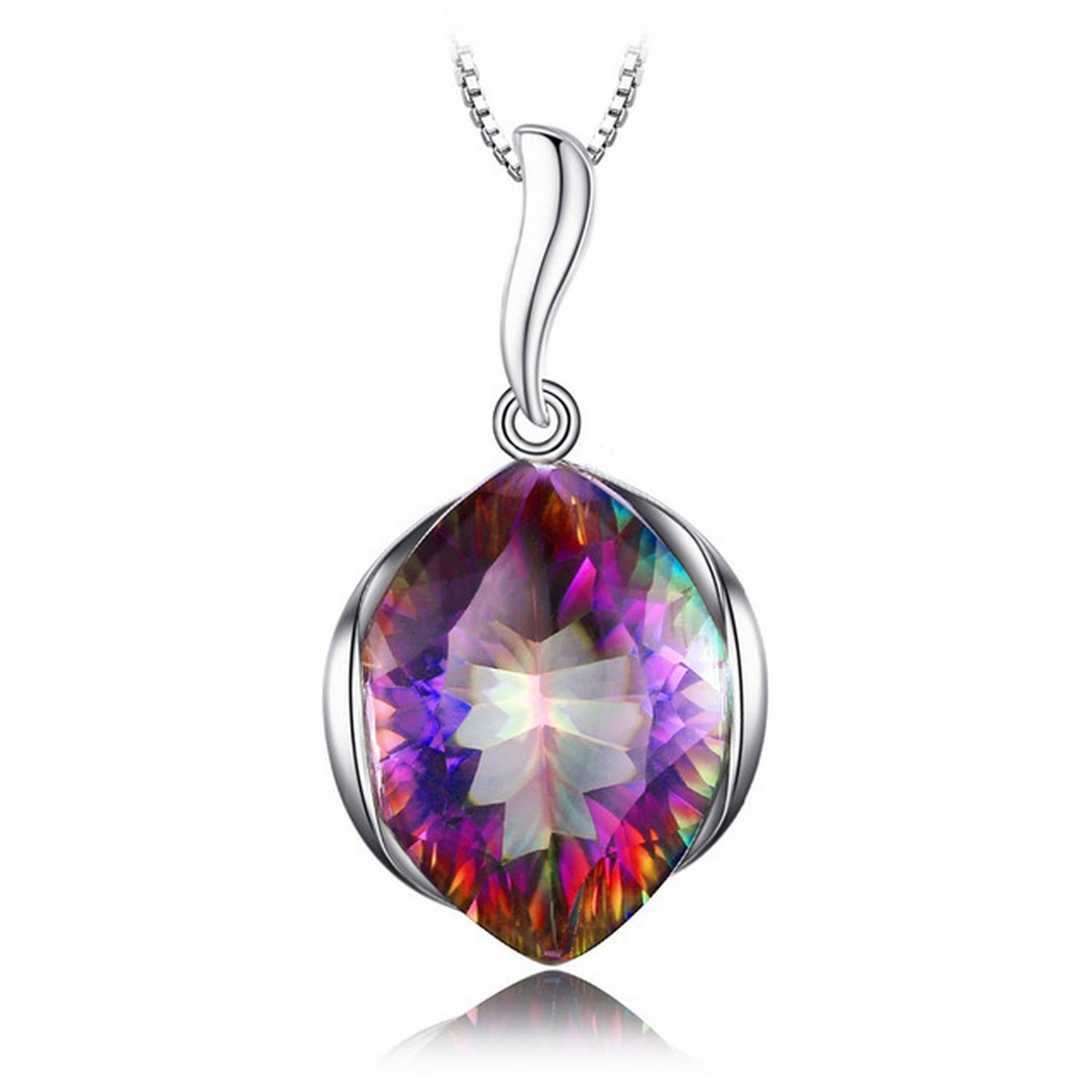 MMC Silver Pendants 11ct Genuine Topaz Charm Necklaces for Womens