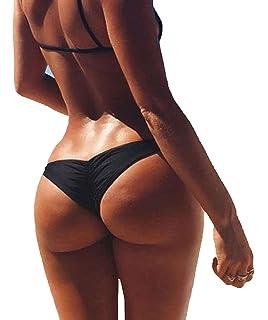 64dd02dbbc2 3-5 Days Delivery Sexy Lady Brazilian V-Style Ruched Ruffle Cheeky Bikini  Bottom