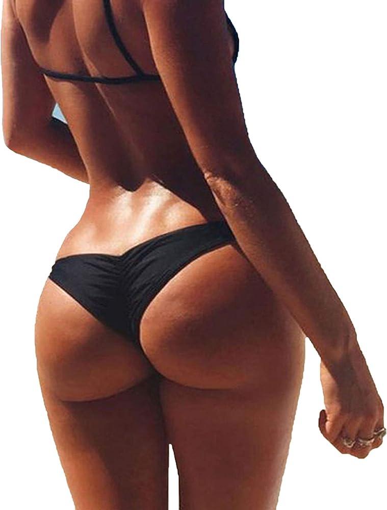 e2b12a75e4f 3-5 Days Delivery Sexy Lady Brazilian V-Style Ruched Ruffle Cheeky Bikini  Bottom. Back