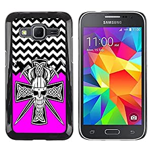 - Devil Cross Chevron Pattern - - Fashion Dream Catcher Design Hard Plastic Protective Case Cover FOR Samsung Galaxy Core Prime Retro Candy