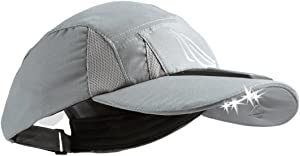 Panther Vision SCUB-4010 4 LED Solar Powered Microfiber Hat, Grey