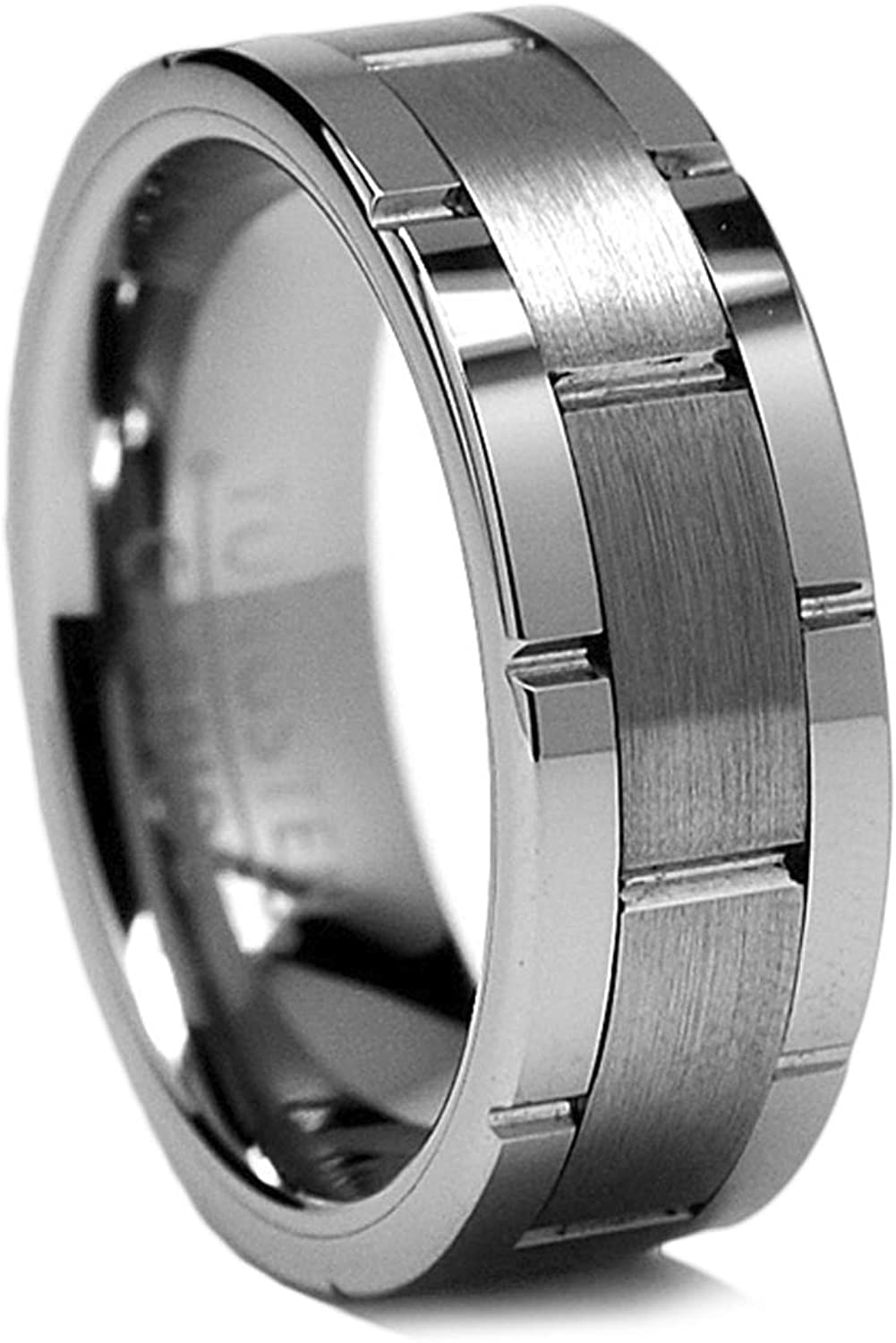 8MM Men's Tungsten OFFicial mail order Carbide Wedding Band Sizes Grooved 8 to Ranking TOP14 Ring