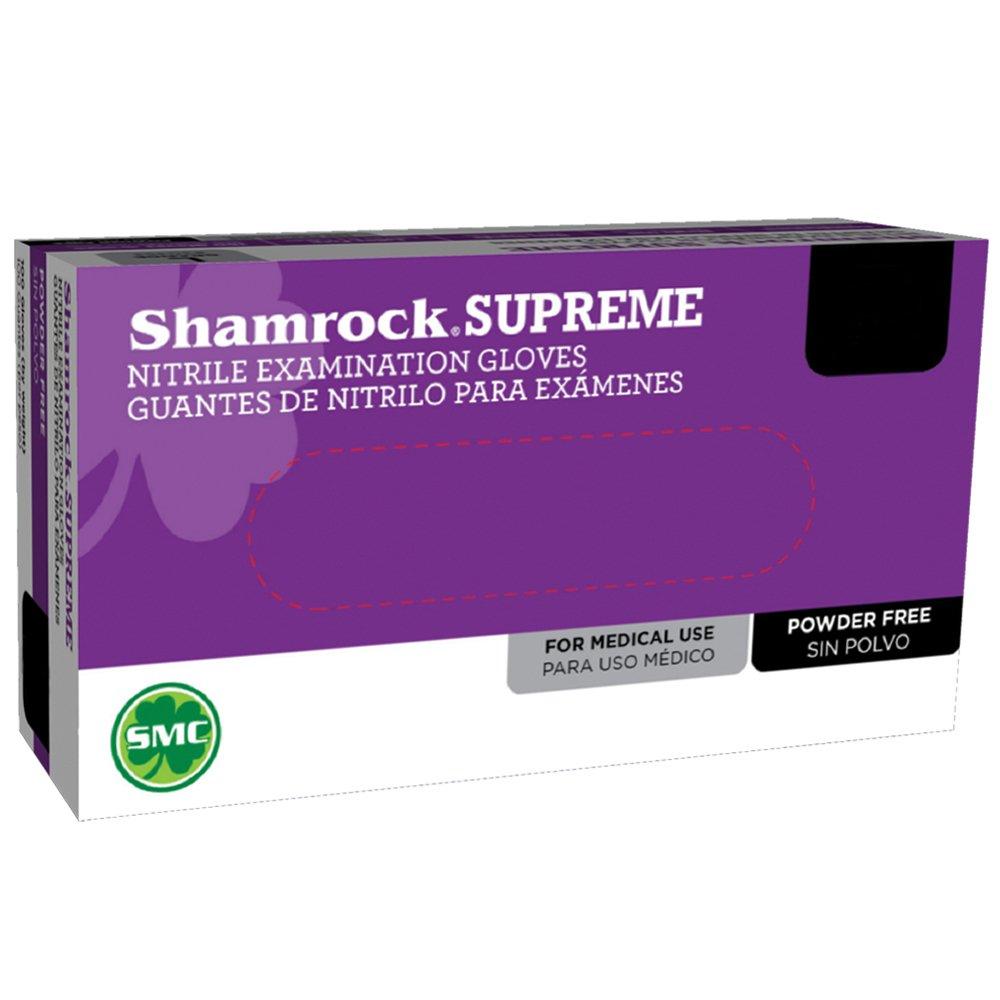 Shamrock 30352/100-M-bx Med Glove, Nitrile Rubber, Econo, No Powder, Thin, Cheap, Sterile, Medium, Blue