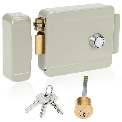 KKmoon Cerradura Eléctrica de Apertura Derecha para Sistema de Seguridad de Control de Acceso de Timbre