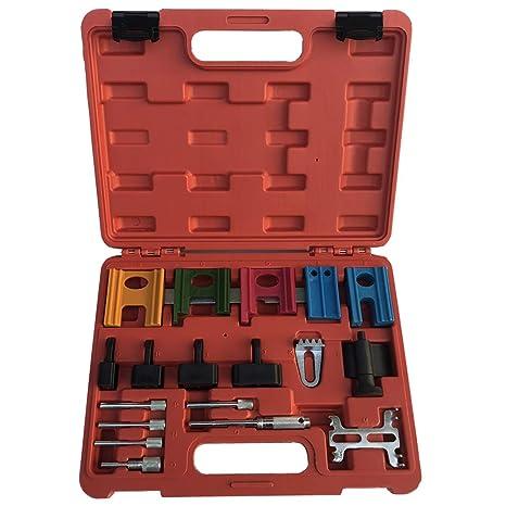 Amazon.com: SUNROAD 19pcs Engine Twin Cam Flywheel Locking Alignment Timing Belt Tool Kit: Automotive