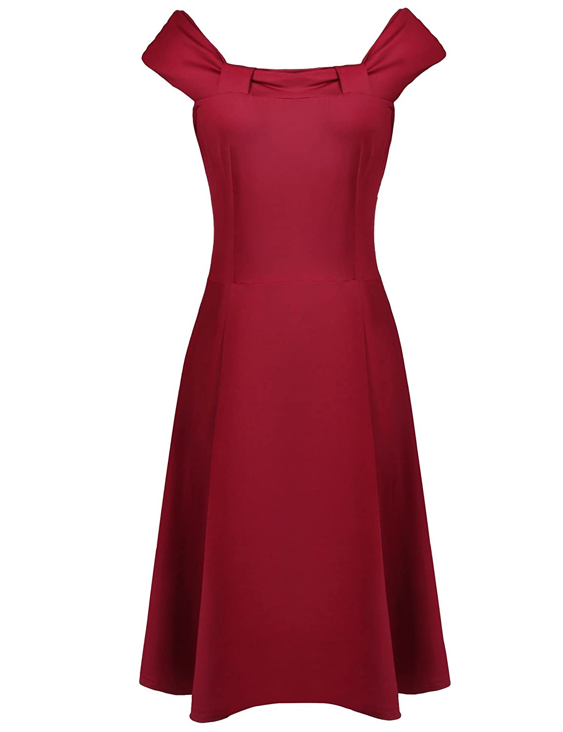 ACEVOG 1950s Evening Women Vintage Party Bridesmaid Empire Waist Cocktail Dress