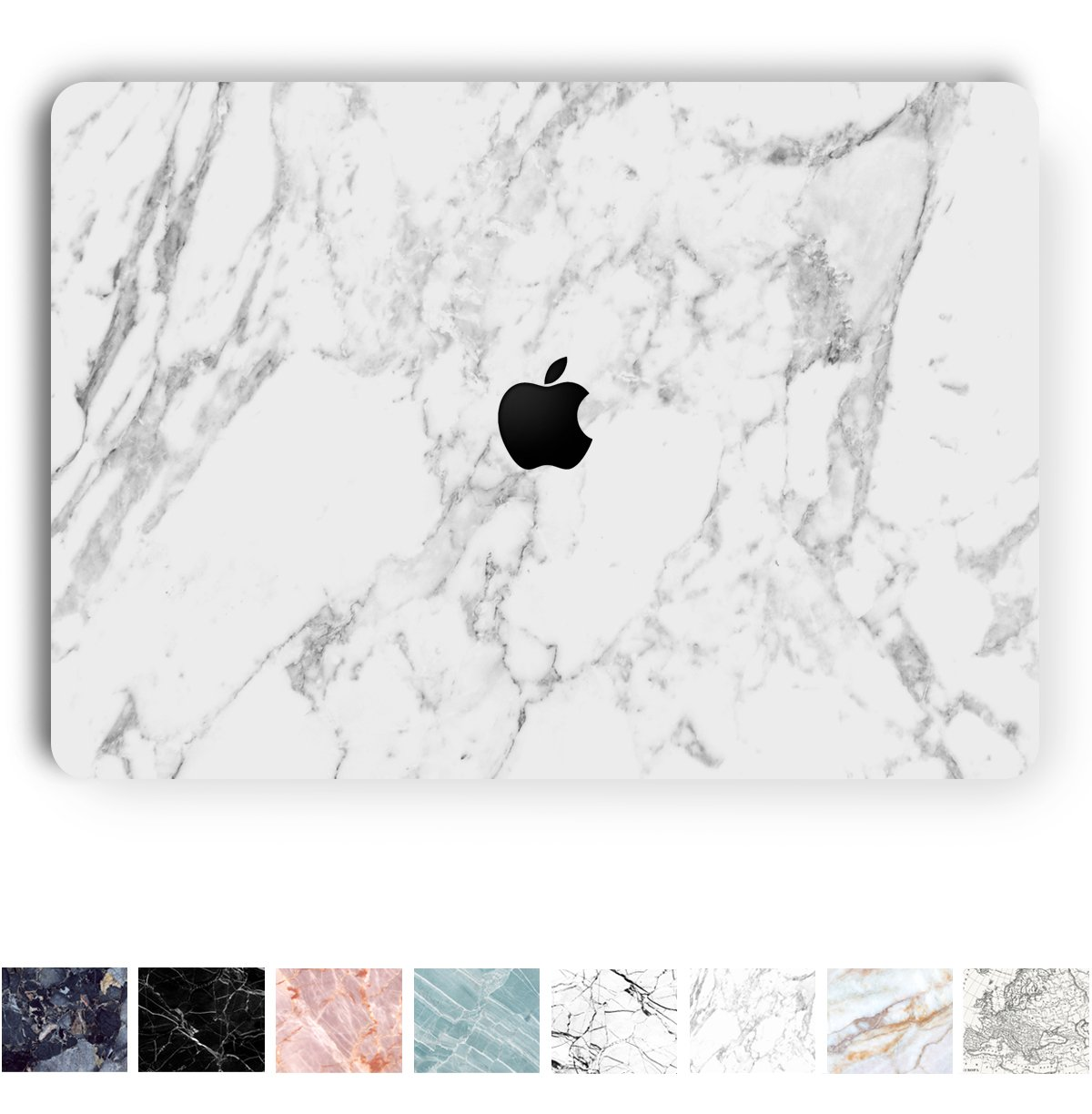 Koru Premium White Marble Vinyl Decal Skin Sticker Case Cover for MacBook Pro 13 inch with/Without Touch Bar (2016 & 2017 Release - Models A1706 and 1708)