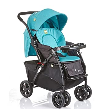 XYQ Carrito de bebé-Carrito de bebé Azul/Rosa Algodón - Sábana de algodón