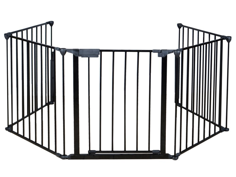 Costzon Fireplace Fence Baby Safety Fence Hearth Gate BBQ Metal Fire Gate Pet Dog Cat Christmas Tree Fence by Costzon