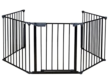 costzon fireplace fence baby safety fence hearth gate bbq metal fire gate pet dog cat christmas - Baby Gate For Christmas Tree