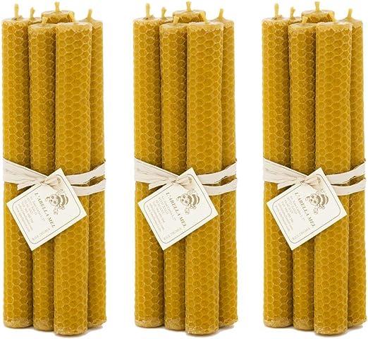L Abella 100% 3 x 6 de Cera de Abejas Velas de España – Producto Natural –
