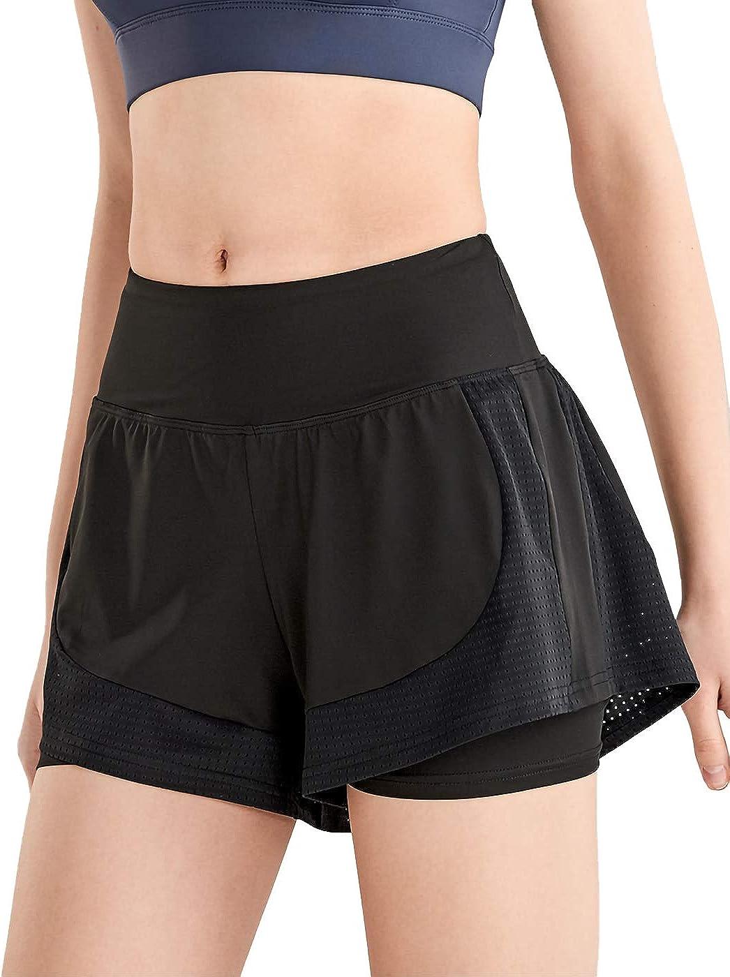 Anna-Kaci Womens Workout Athletic Running Shorts Active Yoga Gym Sport Shorts