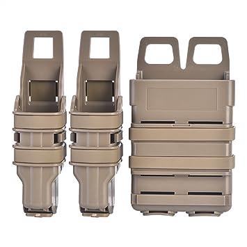 Tbest Fast mag Molle Táctico Funda Bolsa de Revista mag Tactical Airsoft Fast Bolsas de Titular Rifle Pistola Bolsa Conjunto para Militares Caza