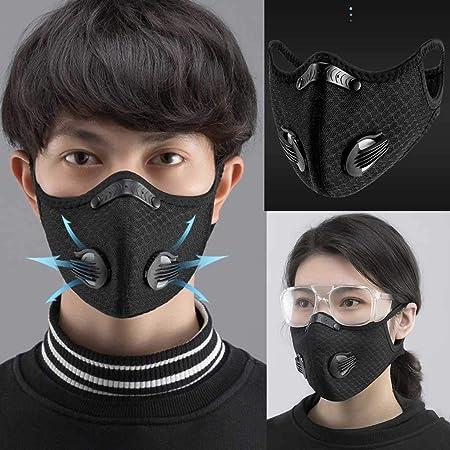 Image ofLazzgirl Reutilizable y Lavable con Carbón Activado Filtro Antipolvo Antivaho Actividades al aire libre Pack 1 unidades